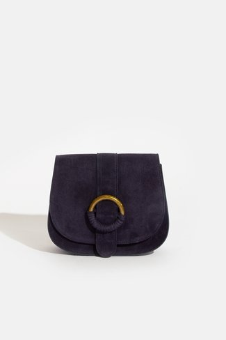Suede Ring Bag Navy Sweet Like You