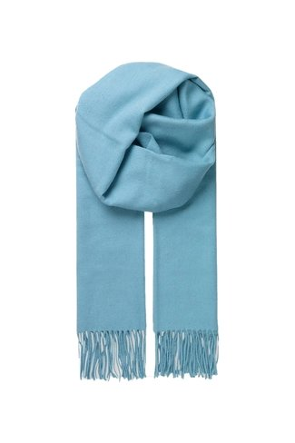 Wool Crystal Scarf Light Blue