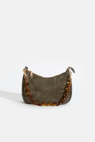 Mini Croco Bag with Strap Olive Sweet Like You
