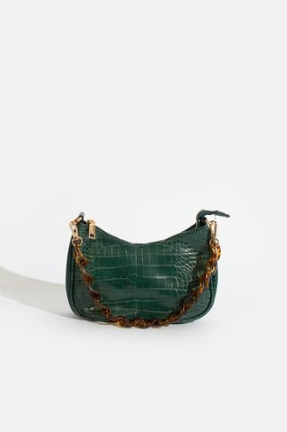 Mini Croco Bag with Strap Green Sweet Like You