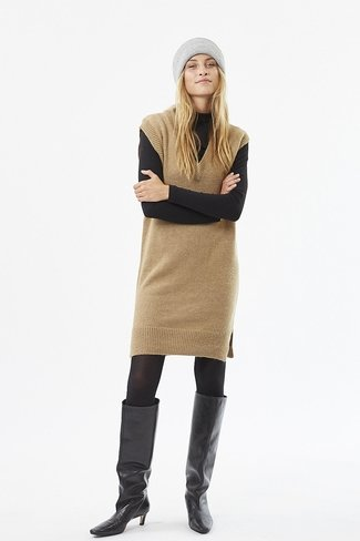 Paja Knit Dress Camel