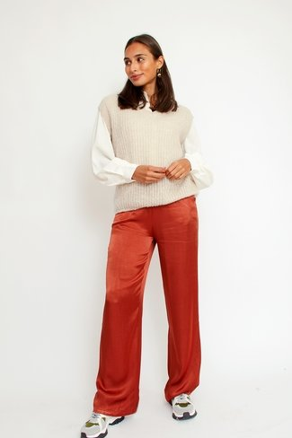 Satin Pants Rust Orla