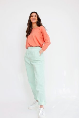 Slouchy Corduroy Pants Turquoise Sweet Like You