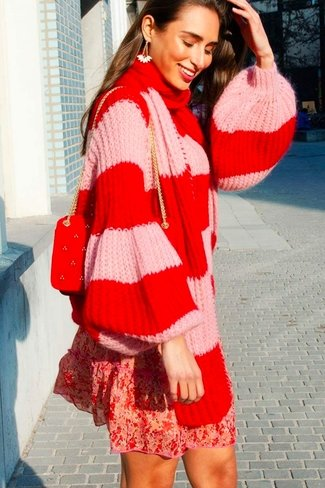Striped Sweater Set Red Sweet Like You
