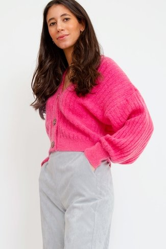 Structured Cardigan Pink Sweet Like You
