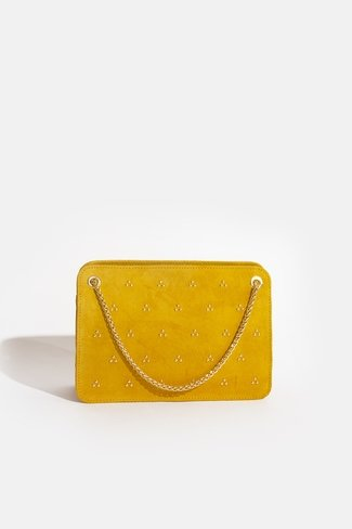 Double Chain Bag Gold Dots Yellow Sweet Like You