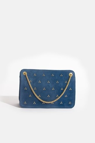 Double Chain Bag Gold Dots Blue Sweet Like You