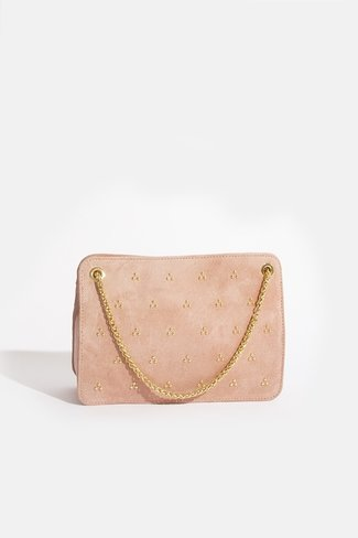 Double Chain Bag Gold Dots Pink Sweet Like You