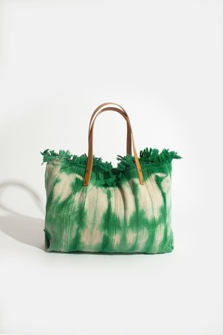 Tie Dye Woven Shopper Green Sweet Like You