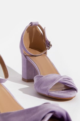 Twist Block Heels Purple