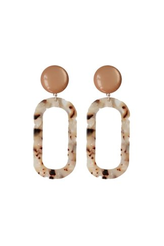 Statement Leopard Earrings Brown Petit Bonbon