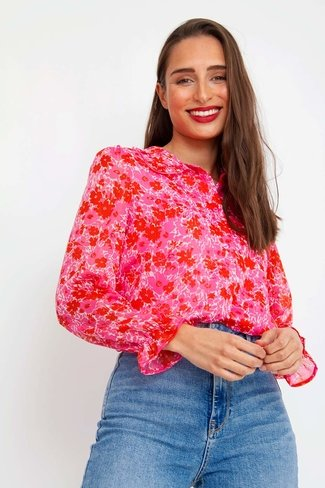 Floral Blouse Pink Sweet Like You