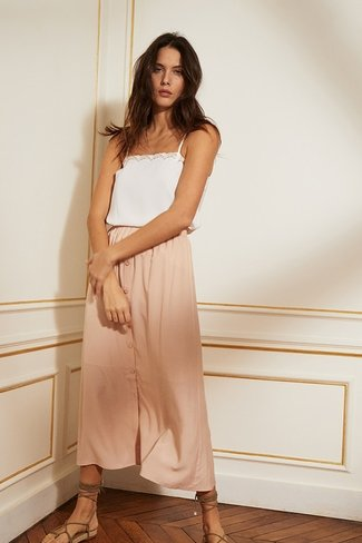 Coralie Pink Skirt Gace and Mila